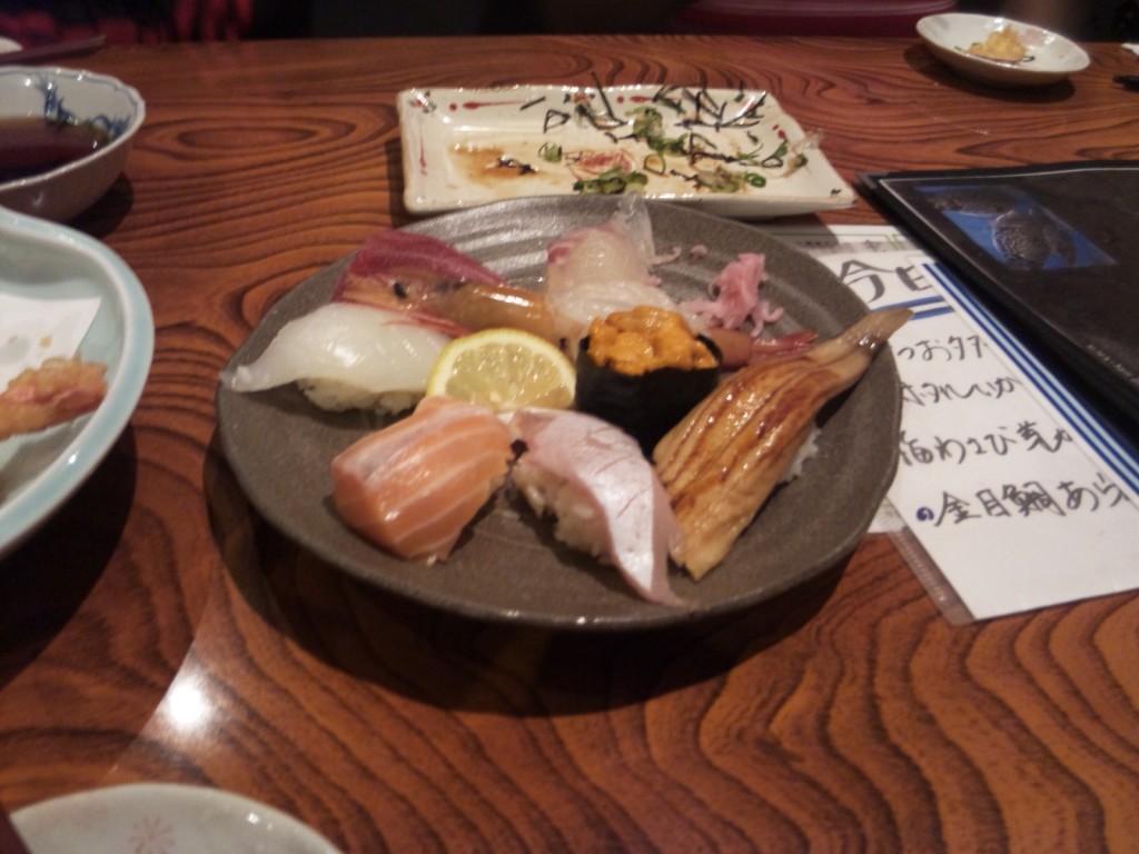Sushi at restaurant Kasuga