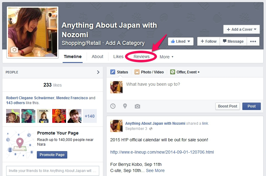 Anything About Japan facebook page Reviews
