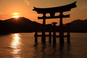 Miyajima Otorii in the evening